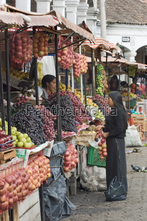 fruit stalls at the famous otovalo