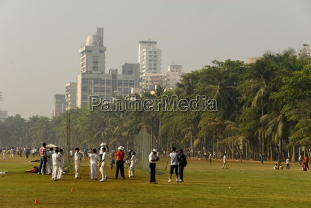 cricket netze auf dem oval maidan