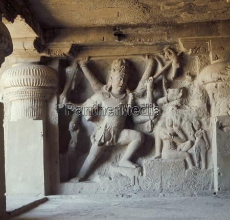 shiva destroyer of the elephants kailasa