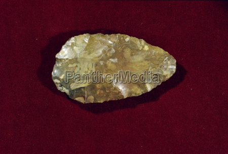 prehistoric acheulian hand axe dating from