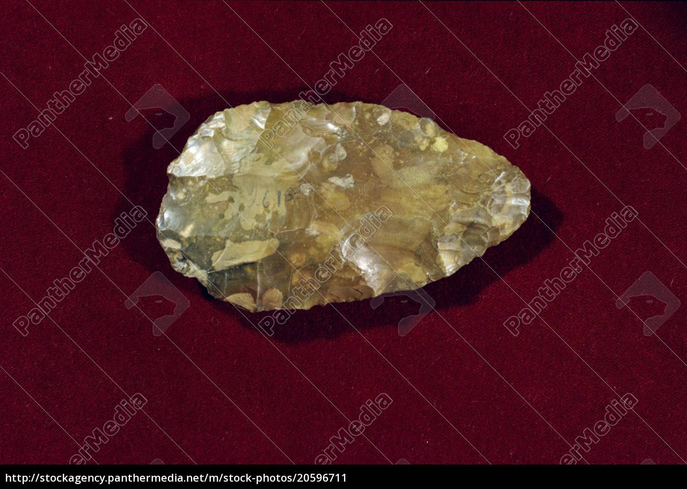 prähistorische, acheulische, handaxt, die, von, 600000, bc - 20596711
