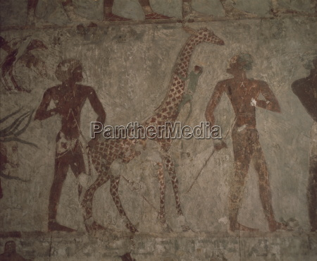 detail of wall painting in the
