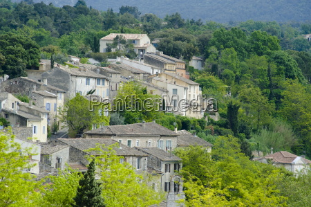 traditional old stone houses in menerbes