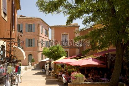 the hilltop ochre coloured village of