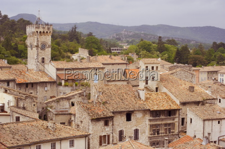 old terracotta rooftops and stone houses