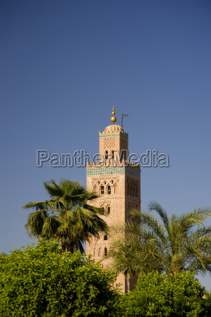 the minaret of the koutoubia mosque