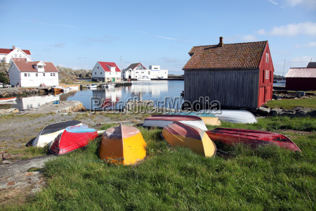 upturned boats south harbour utsire island