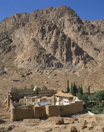 st catherines monastery below a rocky