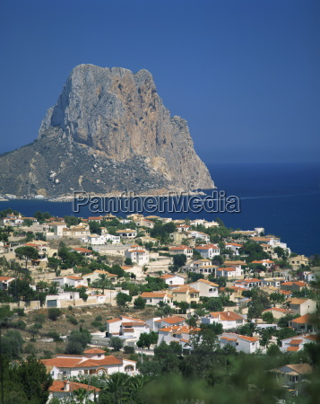 view over the town of calpe