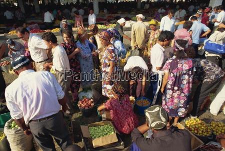main food market samarkand uzbekistan central