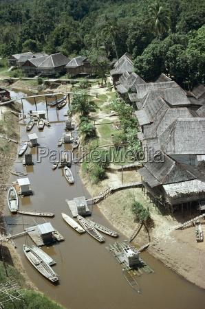aerial view mancong kalimantan island of
