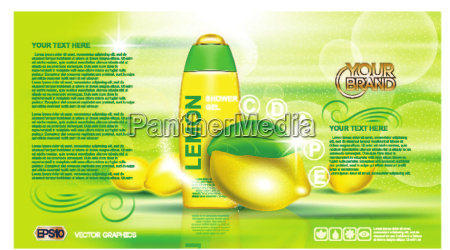 digital vector yellow and green shower
