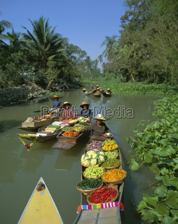floating market thailand asia