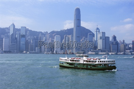 star ferry crossing victoria harbour towards