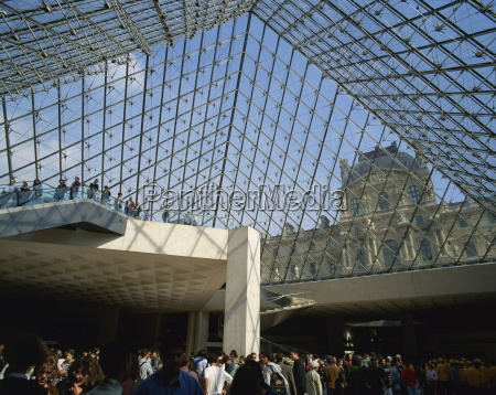inneres, der, pyramide, du, louvre, musee, du - 20602905