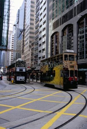 tram sheung wan hong kong island