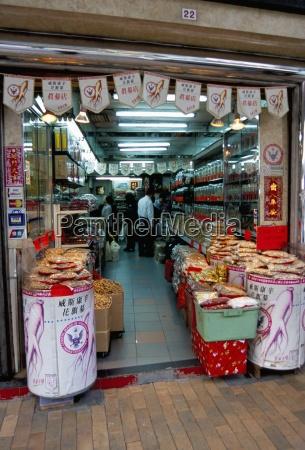 ginseng shop wing lok street sheung