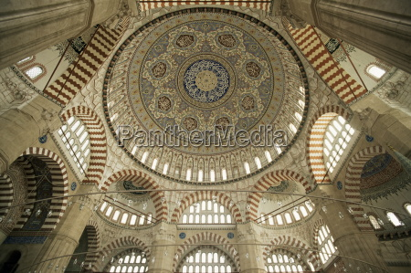 interior of the selimiye mosque edirne