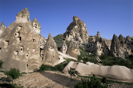 general view of uchisar cappadocia anatolia