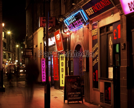 sexshops soho london england grossbritannien europa
