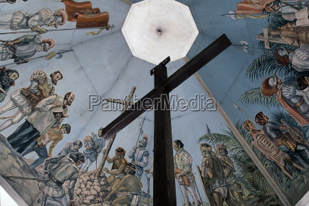 magellans cross christian cross planted by