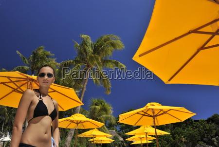 girl on the beach shangri la