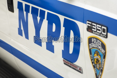 nypd police car manhattan new york