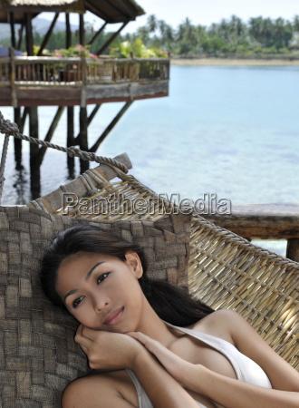 girl on hammock pearl farm resort