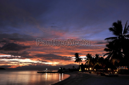sunset view of the beach badian