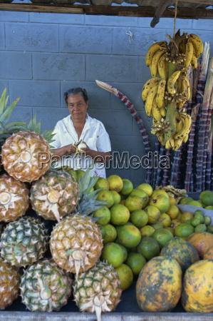fruit seller dominican republic west indies