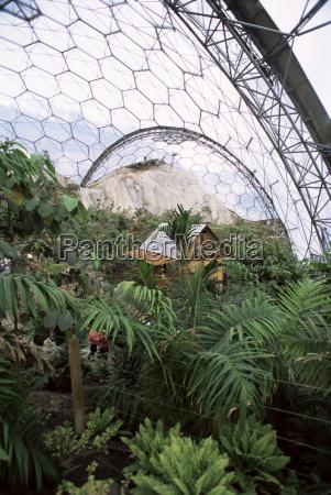 biome interior the eden project near