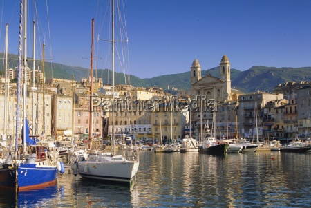 bastia harbour corsica france europe