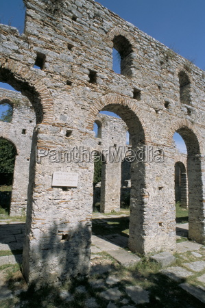 paleochristian basilica at butrinti archaeological site