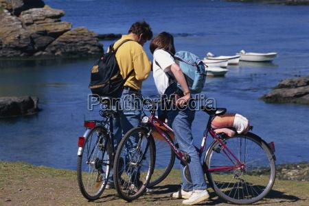 tourists on bikes saint nicolas port