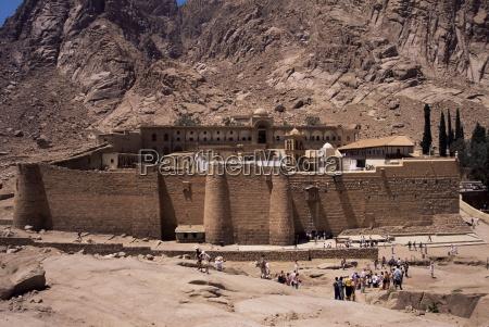 tourists st catherines monastery unesco world