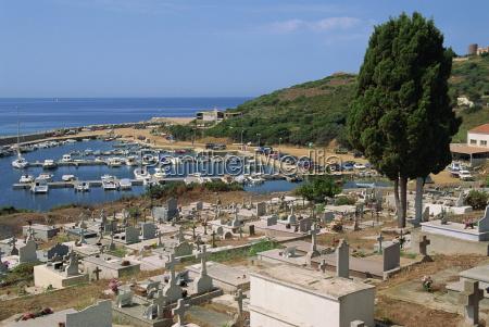 marine churchyard cargese island of corsica