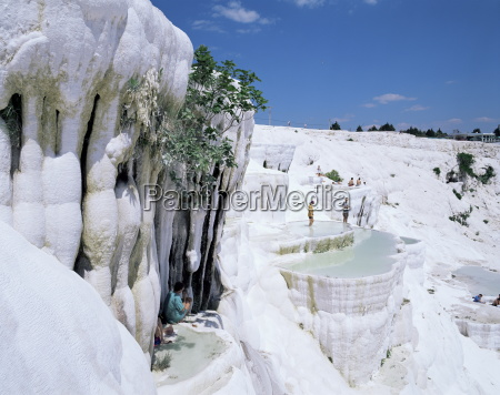 tourists on terraces pamukkale unesco world