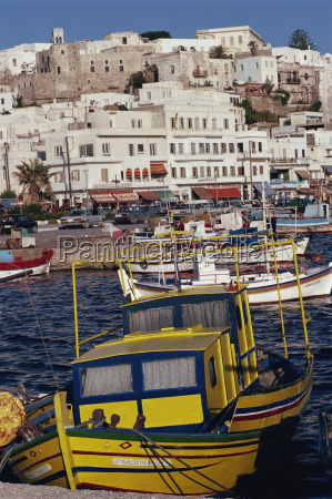 fishing boats in the harbour with