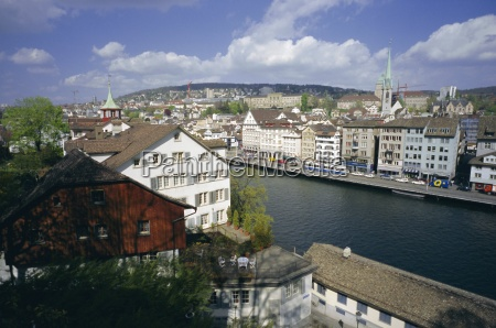 general view from lindenhof of the