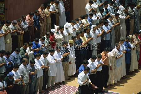 friday prayers at mosque in djemaa