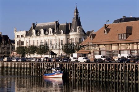 waterfront and fish market trouville basse