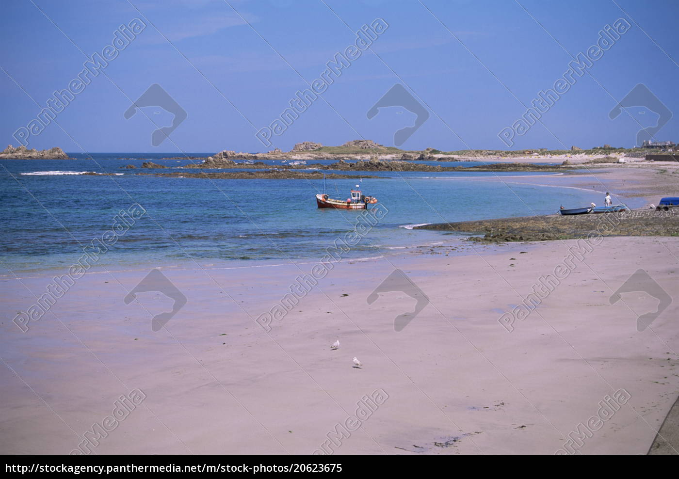 cobo, bay, guernsey, kanalinseln, großbritannien, europa - 20623675
