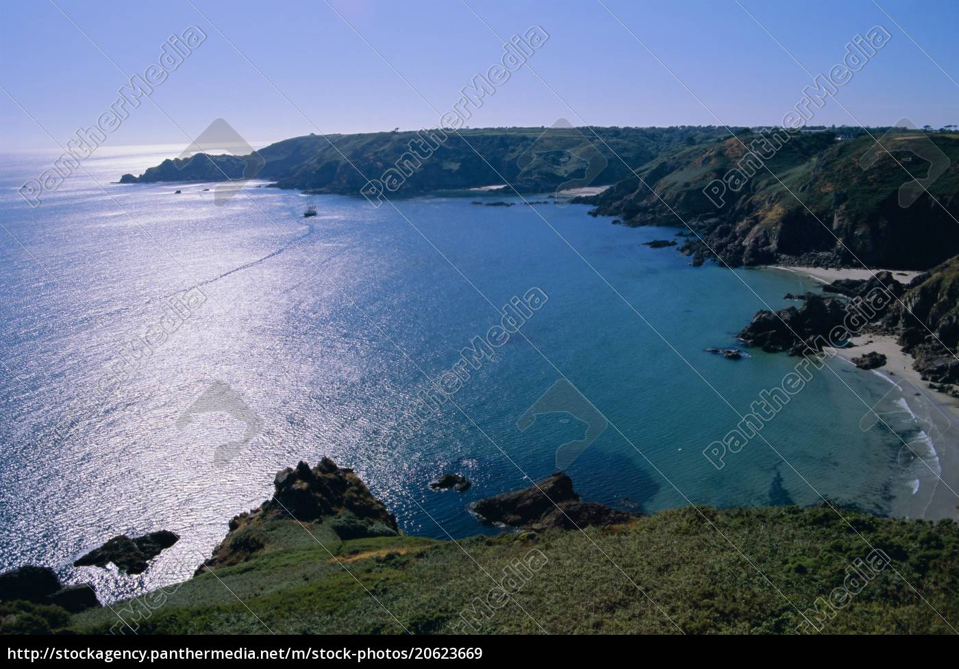 petit, bot, bay, guernsey, kanalinseln, großbritannien, europa - 20623669