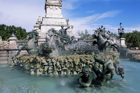 monument aux girondins bordeaux gironde aquitaine