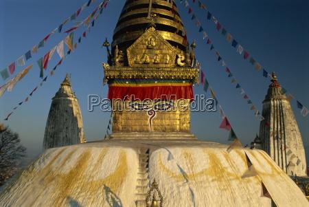 the swayambhunath stupa or monkey temple