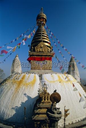 swayambhunath stupa monkey temple kathmandu nepal
