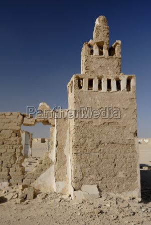 ancient mosque oasis of siwa egypt