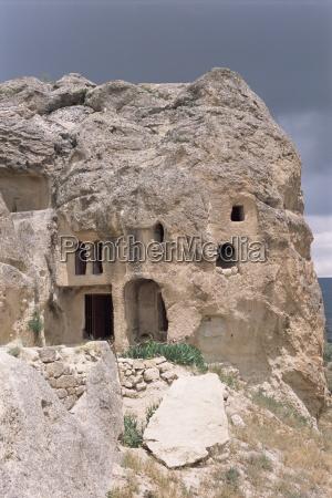 cave dwellings near goreme cappadocia anatolia