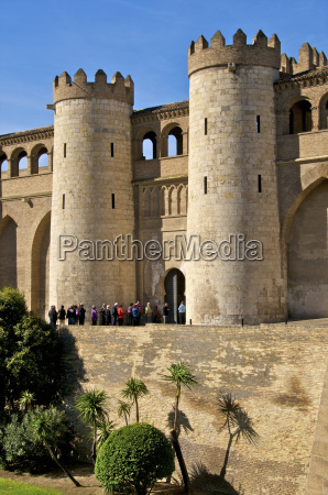 fortified walls and towers of the