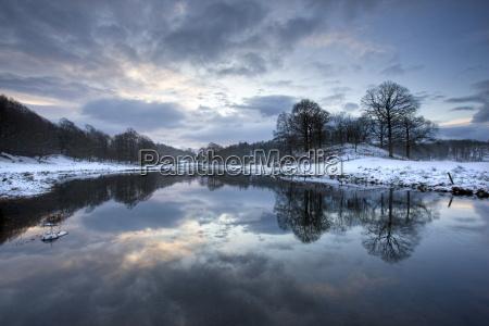 winter view of river brathay at